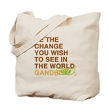 gandhi quotes Tote Bag