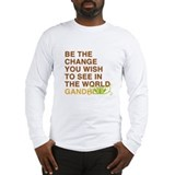gandhi quotes Long Sleeve T-Shirt