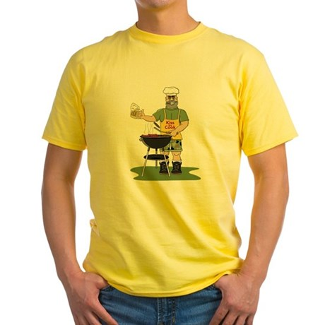 Kiss the Cook Yellow T-Shirt