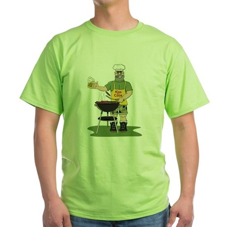 Kiss the Cook Green T-Shirt