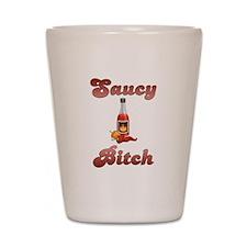 Saucy Bitch Shot Glass