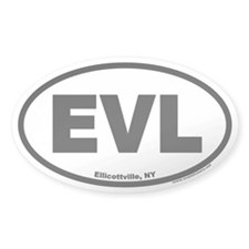 Ellicottville New York EVL Euro Oval Decal