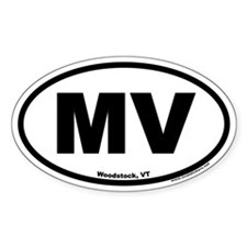 Woodstock Vermont MV Euro Oval Decal