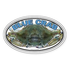 Blue Crab Oval Decal