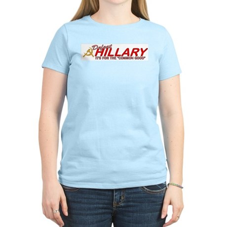 Defeat Hillary 2008 Women's Pink T-Shirt