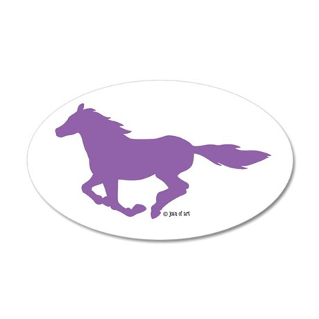 Horse (P) 35x21 Oval Wall Decal