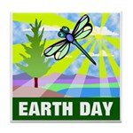 Earthday Tile Coaster