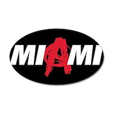 Miami Anarchy 38.5 x 24.5 Oval Wall Peel