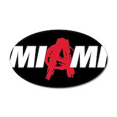 Miami Anarchy 22x14 Oval Wall Peel