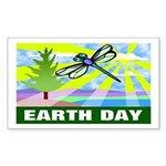 Earthday Rectangle Sticker