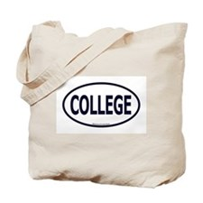 """College"" Euro - Dark Blue Tote Bag"