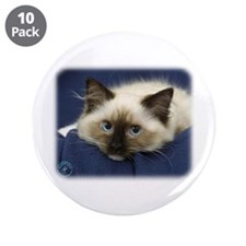 "Ragdoll Cat 9W082D-020 3.5"" Button (10 pack)"