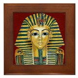 King Tut Mask Framed Tile