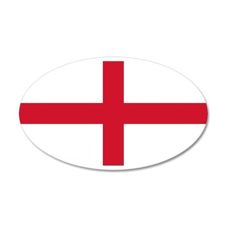 England St George's Cross Flag 38.5 x 24.5 Oval Wa