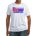 Vote Defeatocrat (Democrat) Fitted T-Shirt