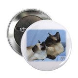 "Siamese Cat 9W055D-049 2.25"" Button (10 pack)"