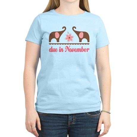 November Due Date Gift Women's Light T-Shirt