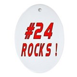 24 Rocks ! Oval Ornament