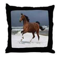 Cute Horses Throw Pillow