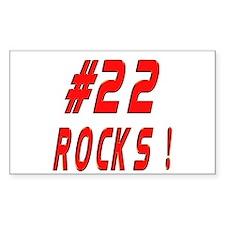 22 Rocks ! Rectangle Decal
