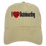 I Love Skateboarding Cap