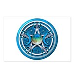 Blue Triple Goddess Pentacle Postcards (Package of