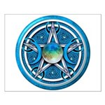 Blue Triple Goddess Pentacle Small Poster