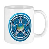 Blue Triple Goddess Pentacle Mug