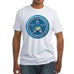 Blue Triple Goddess Pentacle Fitted T-Shirt