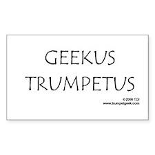Rectangle Sticker Geekus Trumpetus