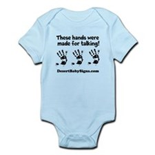 THESE HANDS with Customizable website name Infant