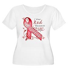 I Wear Red Because I Love My Nephew T-Shirt