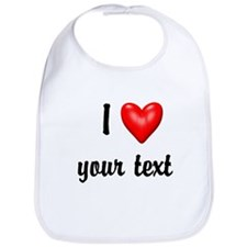 I Love I Heart Customize Bib
