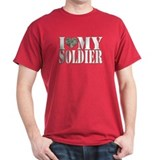 I Love My Soldier Black T-Shirt