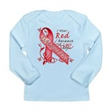 I Wear Red Because I Love My Daughter Long Sleeve