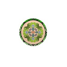 Fraternal Order Of The Frog Mandala Mini Button