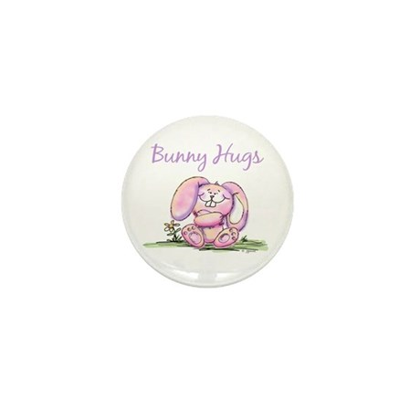 Bunny Hugs Mini Button