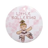 Little Ballerina Ornament (Round)