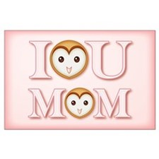 I [heart] YOU MOM Large Poster