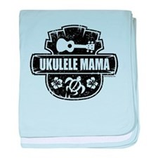 Ukulele Mama baby blanket