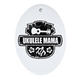 Ukulele Mama Ornament (Oval)