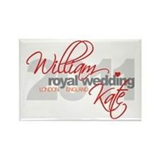 William & Kate Wedding Rectangle Magnet