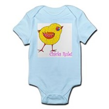 """Chicks Rule"" Infant Creeper"