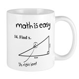 Math is Easy Joke Mug
