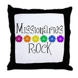 Missionaries Rock Throw Pillow