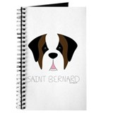Saint Bernard Cartoon Face Journal