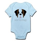Saint Bernard Cartoon Face Infant Bodysuit
