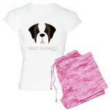 Saint Bernard Cartoon Face pajamas