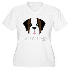 Saint Bernard Cartoon Face T-Shirt