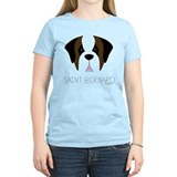 Saint Bernard Cartoon Face T-Shirt